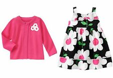 NWT Gymboree Daisy Park Bow Dress and Cardigan Set Sz 18-24 months 2T 3T