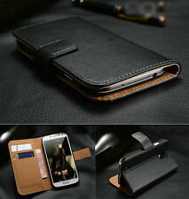 Genuine Real Leather Flip Wallet Case Cover For Sony Xperia Series