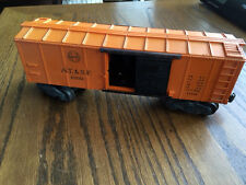 Vintage Lionel O Santa Fe AT&SF 63132 Operating Box Car with Moving Man X3464