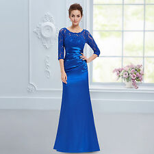 Elegant Lace Long Sleeve Formal Evening Dress Bridesmaid Party Ball Gowns W1641
