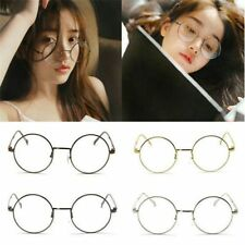 Hot Sale Metal Frame Clear Round Lens Glasses Nerd Spectacles Eyeglass New