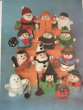 JEAN GREENHOWE TOY / DOLL KNITTING PATTERN WITTY KNITS Santa Witch Scarecrow etc