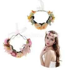 Boho Style Charm Rose Flower Prom Wedding Hair Wreath Headband Hair Band Crown