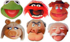 THE MUPPETS CARD MASKS - 6 FUN PARTY FACE MASKS & MULTIPACK - FREE SHIPPING!
