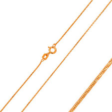 Men 925 Sterling Silver Snake Chain Necklace Rose Gold Plated made in italy