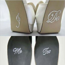 I Do or Me Too Crystal Clear Diamante Rhinestone Wedding Shoe Stickers