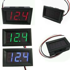 1× LED Digital DC 4.5~30V Panel Detector Voltmeter Tester Monitor Red/Blue/Green