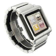 Practical Aluminum Multi-Touch Wrist Strap Wrist Watch Band for iPod Nano 6th SH