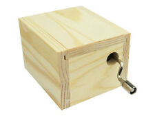 Hand Crank Wood Music Box Customize DIY Musical Base