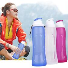 Foldable Collapsible Water Leak Proof Silicone Bottle Bag For Outdoor Sport