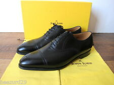 *NEW* JOHN LOBB SAUNTON LEATHER OXFORD SHOES $1495 (BLACK CALF 9,10.5,11 EE)