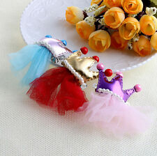 Princess Crown Hairpin Bow Tie Hair Pet Grooming Hair Clips Lace Dog Bowknot Pet