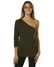 New Maurie And Eve Women's Chaya Womens Top Womens Crew Neck Green