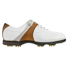 New FootJoy Icon Black Wide Golf Shoes (52094) White/Tan - Manufacturer Closeout