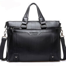 Fashion Men Leather Business Briefcase Attache Shoulder Messenger Bag Laptop Bag