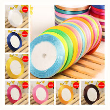 Width 6mm 25 yards Craft Home Wedding Party Gift Decoration Satin Sewing Ribbon