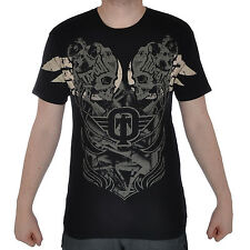 TAPOUT Bolt Mens MMA UFC Cage Fighter Short Sleeve T Shirt Top - Black