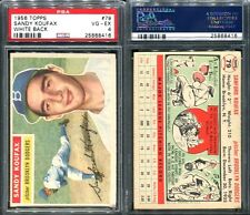 1956 TOPPS #79 SANDY KOUFAX WHITE BACK PSA 4 (8416)