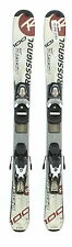 Used Rossignol Edge Jr. Kids Shape Snow Skis with Comp-j Binding C