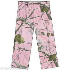 Youth Realtree Pink Camo Girl's Cargo Pants, Hunting Hiking Pink Light weight