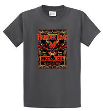 Thunder Road Motor Oil Mens Printed Tees Reg to Big and Tall Sizes Port and Co