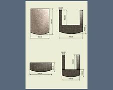 Solid Polished Granite slab hearth for stoves fireplaces size & color selection