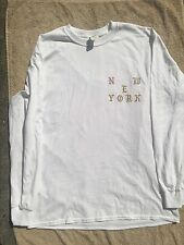 KANYE WEST NYC TLOP KANYE LOVES KANYE LONG SLEEVE T- SHIRT - WHITE SIZE L and XL