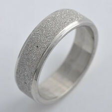 mens stainless steel ring womens Scrub band wedding ring size 8 9 10 11