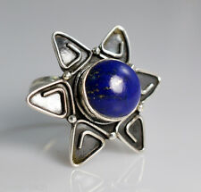 Pure 92.5 Solid Sterling Silver Genuine Lapis Lazuli Handmade Ring Size 4-13 US