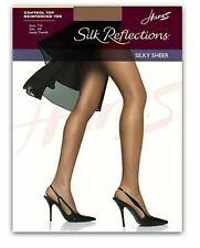 Hanes Silk Reflections Control Top Sheer Toe Pantyhose Many Sizes/Colors #00717