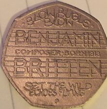 2013 ROYAL MINT FIFTY PENCE 50p  coin- Benjamin Britten 100th Anniversary