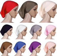 Cotton Bonnet Underscarf Head Scarf Muslim Cover Women Hijab Headwrap Islamic