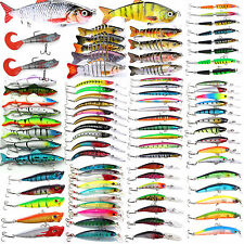 Mixed Minnow Fishing Lures Bass Bait Crankbait Sharp Hook Assorted Hard Tackles