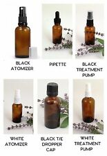 Amber Glass Dropper Bottle 10ml -100ml Homeopathy Ayurveda Aromatherapy Health