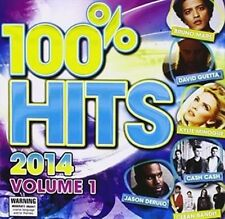 Vol. 1-100% Hits 2014 - 100% Hits 2014 New & Sealed CD-JEWEL CASE Free Shipping