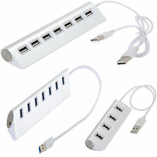 Aluminum USB 2.0/3.0 4/7 Ports External Hub Adapter for PC Laptop Notebook New