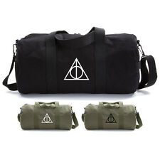 Harry Potter Deathly Hallows Symbol Durable Canvas Military Duffle Sport Gym Bag