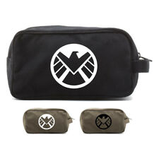 Marvel Agents of Shield Logo Vintage Style Travel Kit Toiletry Bag Makeup Case