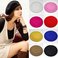 Men Women Plain Beret Hat Wool French Winter Warm Women Girls Hat Beanie Ski Cap