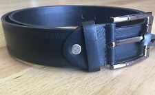 Versace pattern Bonded Leather Casual Black Belt w/ Buckle - New