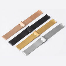 12mm-24mm Stainless Steel Mesh Bracelet Watch Band Replacement Strap Unisex NEW