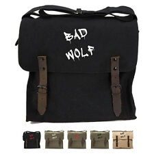 Dr Who Inspired Bad Wolf Graffiti Army Heavyweight Canvas Medic Shoulder Bag