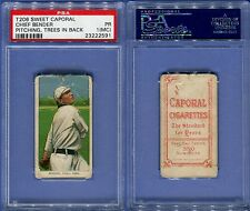 1909-1911 T206 SWEET CAPORAL CHIEF BENDER PITCHING TREES IN BACK PSA 1 MC (2591)