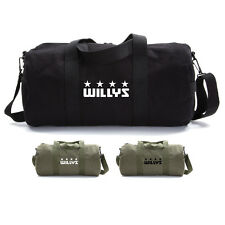 Willys Jeep Freedom Stars Military Army Sport Heavyweight Canvas Duffel Bag