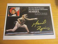 Mariel Zagunis Autographed/Signed 8.5X11 Photograph USA Olympic Sabre Fencing