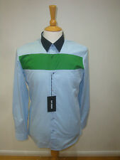 RAF SIMONS LUXURY COTTON SHIRT NEW WITH TAGS  SKY GREEN