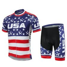 Pro Cycling Team Kit Clothes Bike Jersey and Padded Shorts Men Cycling SetS-5XL