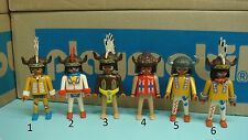 Playmobil Indians series feather Cuffs Figure klicky diorama TOY CHOOSE ONE 103
