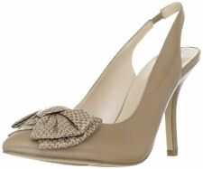 Nine West Women's Blooming Taupe Leather Slingback Pump
