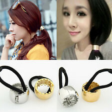 Womans Elastic Rope Hairband Cuff Wrap Ponytail Holder Hair Band Adjustable New